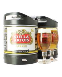 Fûts de bière - Pack 2 Fûts 6L Stella Artois avec 2 verres