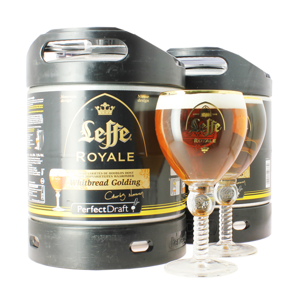 Leffe Royale 6-litre PerfectDraft Keg 2 Pack with 2 Leffe Glasses