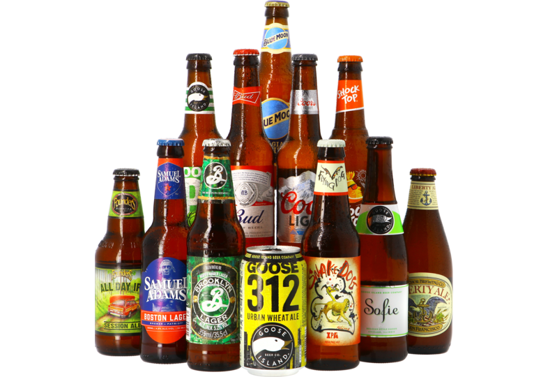 Bier packs - USA craft pack - 12x35.5cl