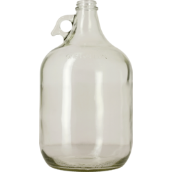 Demi-Johns - 1 Gallon Clear Glass Jug