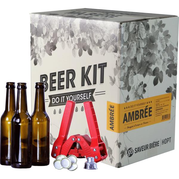 Beer Kit complet, je brasse une ambrée