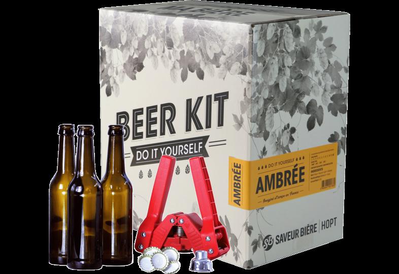 All-Grain Bier Kit - Brouwpakket, Beerkit Amber bier (L) + Bottelset