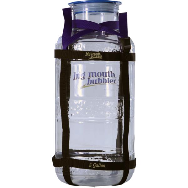 Big Mouth Bubbler plastic fermenter 5 gal (19 L) + harness
