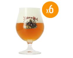 Ölglas - Pack de 6 verres Bière de Miel Bio - 33 cl