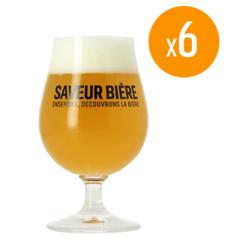 Bicchieri - Pack de 6 bicchieri Saveur Bière - 25 cl