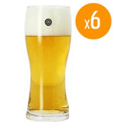 Verres à bière - Pack de 6 Verres Coedo - 33 cl