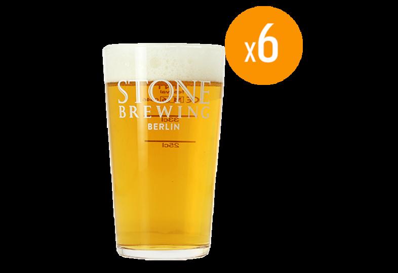Verres à bière - Pack de 6 Verres Stone - 50 cl