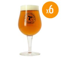 Beer glasses - Pack of 6 Glasses Tempest - 25 cl