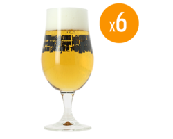 Ölglas - Pack de 6 verres Munique Basqueland Brewing - 33 cl