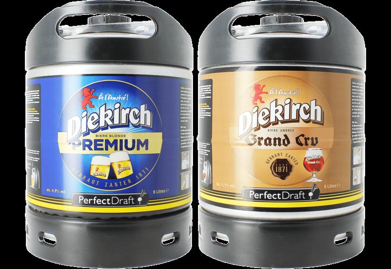 Bier Tapvatjes - Diekirch Premium & Grand Cru PerfectDraft Tapvaatje - 2-Pack