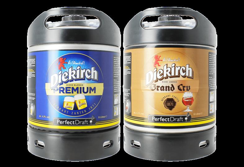 Fûts de bière - Assortiment 2 fûts 6L Diekirch Premium - Diekirch Grand Cru