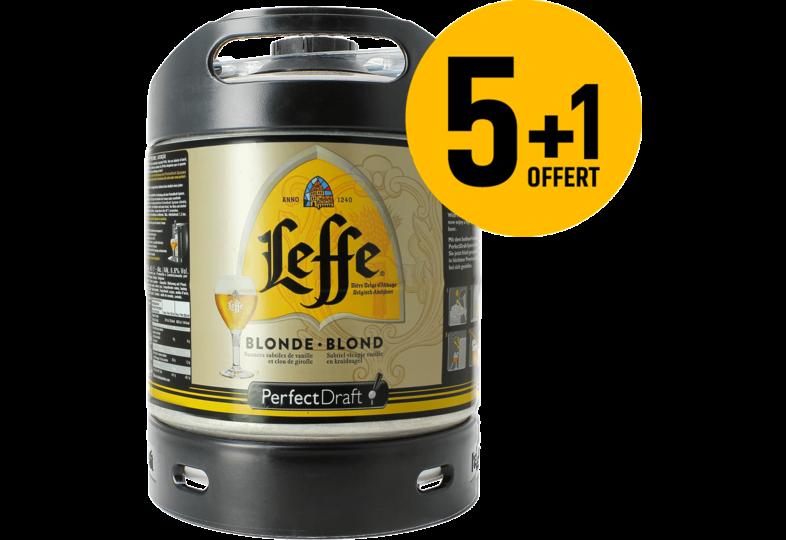 Tapvaten - Leffe Blonde PerfectDraft 6-liter Tapvaatje - 5+1 !