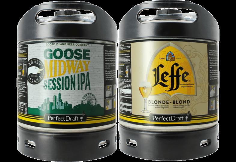 Fusti di birra - Leffe Blonde & Goose Island Midway PerfectDraft 6-litri Fusto - 2-Pack