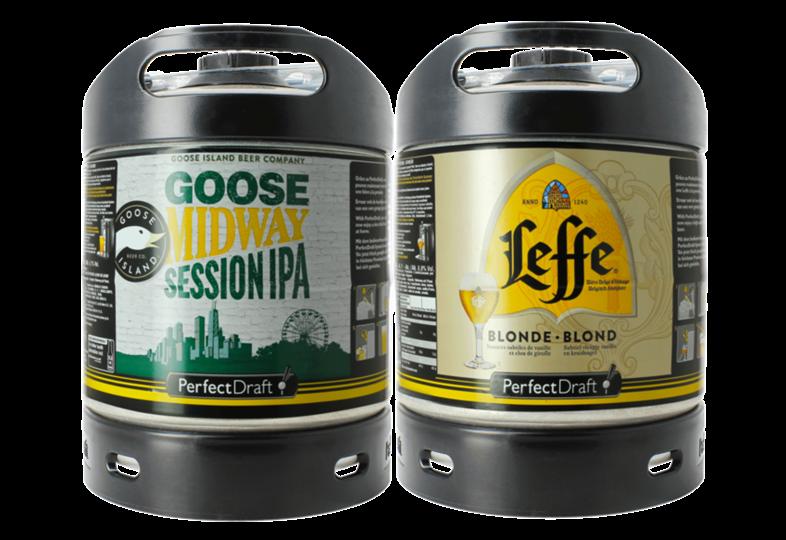 Fûts de bière - Pack 2 fûts 6L : Leffe/Midway