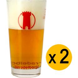 Verres à bière - Pack 2 Verres plat Birra Del Borgo - 33 cl