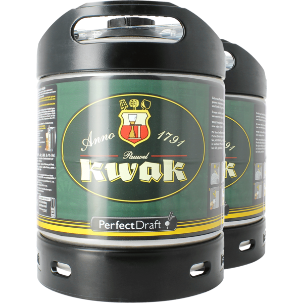 2 x Kwak PerfectDraft 6-litre kegs -  Multipack Savings