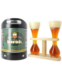 Bottled beer - Kwak PerfectDraft Keg + 2 Kwak Glasses