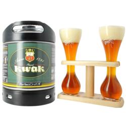 Bouteilles - Fût Kwak et son verre duo