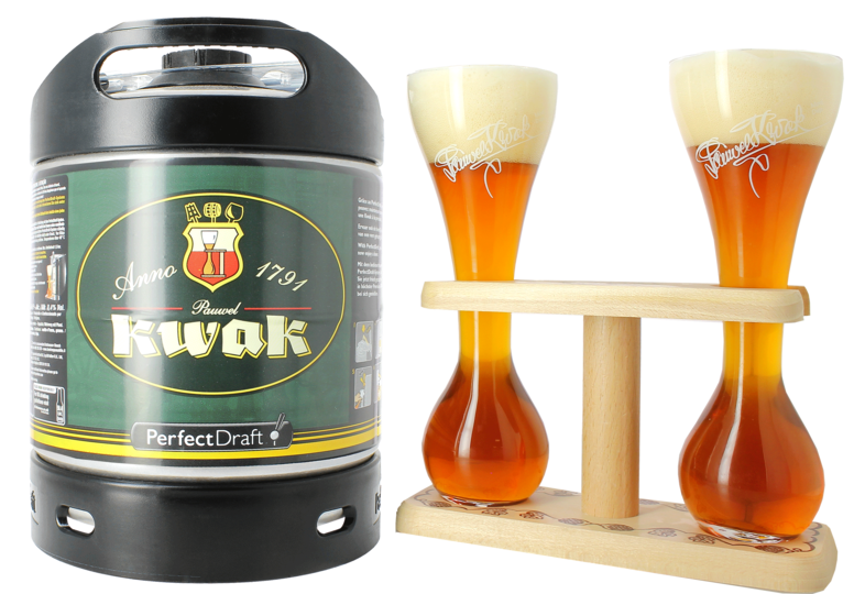 Bottled beer - Kwak PerfectDraft Keg + 2 Kwak Glasses