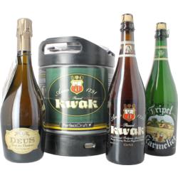 Fûts de bière - Pack Bosteels : 1 fût, 3 bières 75 cl