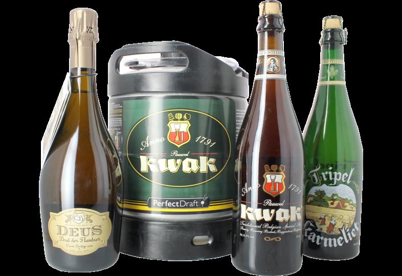 Bier Tapvatjes - Pack Bosteels : 1 tapvat, 3 biertjes 75 cl