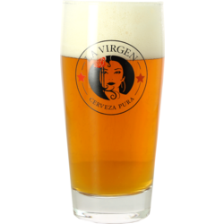 Beer glasses - 2 La Virgen Glasses - 33 cl