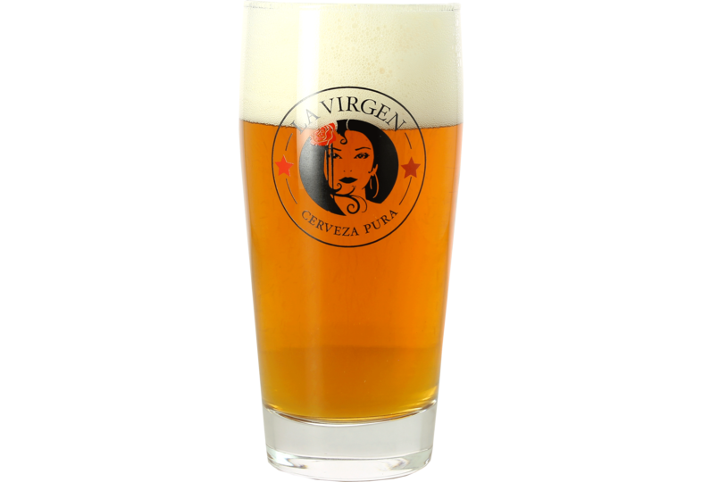 Verres à bière - Pack 2 Verres La Virgen - 33 cl