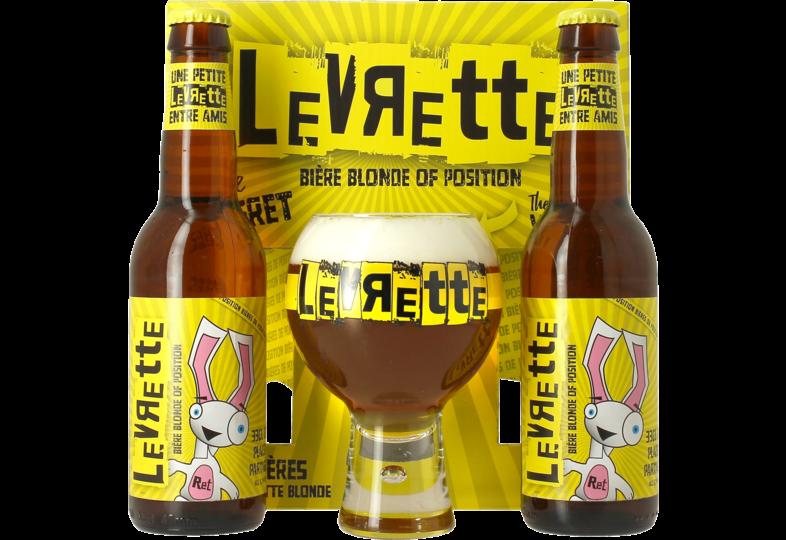 Accessoires et cadeaux - Coffret Levrette Blonde - 2 bières et 1 verre