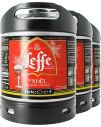 Fûts de bière - Pack 3 fûts 6L Leffe de Noel