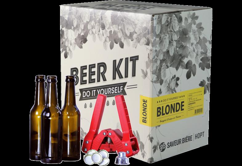 Kit de bière tout grain - Brew Your Own Beer Kit - Blond + Bottling Kit