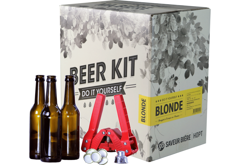 Moutpakket - Brouwpakket, Beerkit Blonde (L) + bottelset