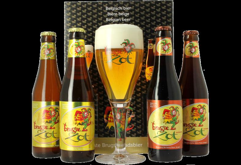 Pack regalo con cerveza y vasos - Coffret Brugse Zot