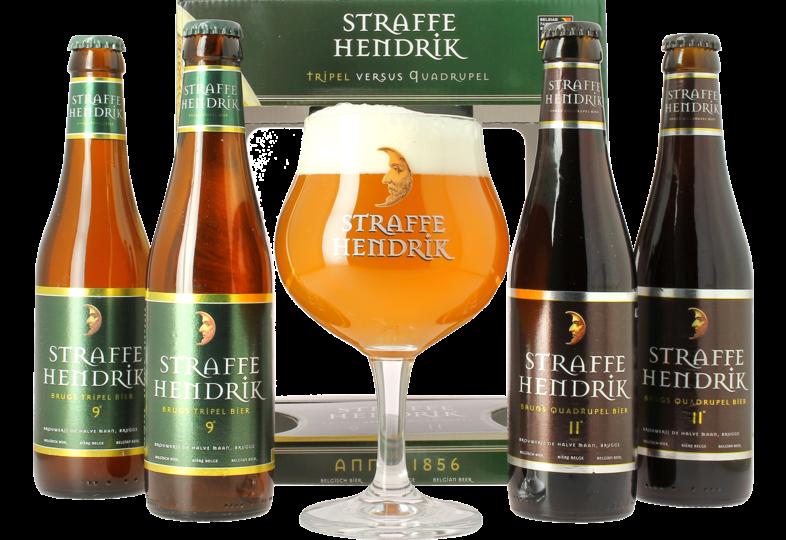 Pack regalo con cerveza y vasos - Pack de regalo Straffe Hendrik