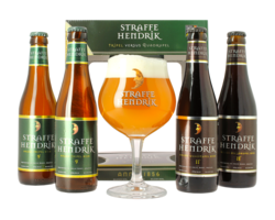 Gift box with beer and glass - Giftpack Straffe Hendrik