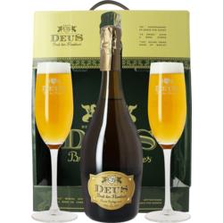 Accessoires et cadeaux - Coffret Deus - 1 bière et 2 verres
