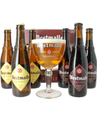 GIFTS - Abbaye de Westmalle Trappist Gift Pack - 6 Beers + 1 Glass
