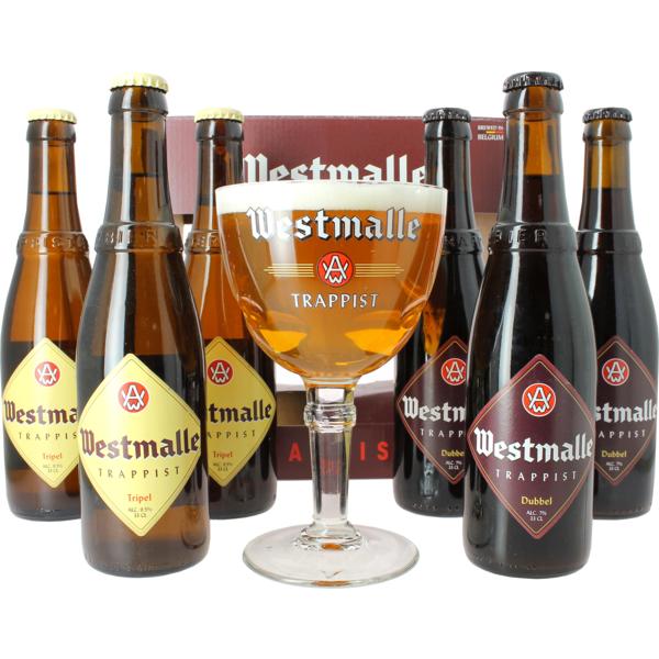 Coffret Westmalle ( 6 bières 1 verre )