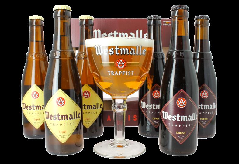 Gåvor - Coffret Westmalle ( 6 bières 1 verre )