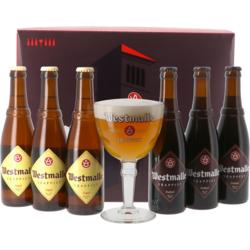 Accessoires et cadeaux - Coffret Westmalle - 6 bières et 1 verre