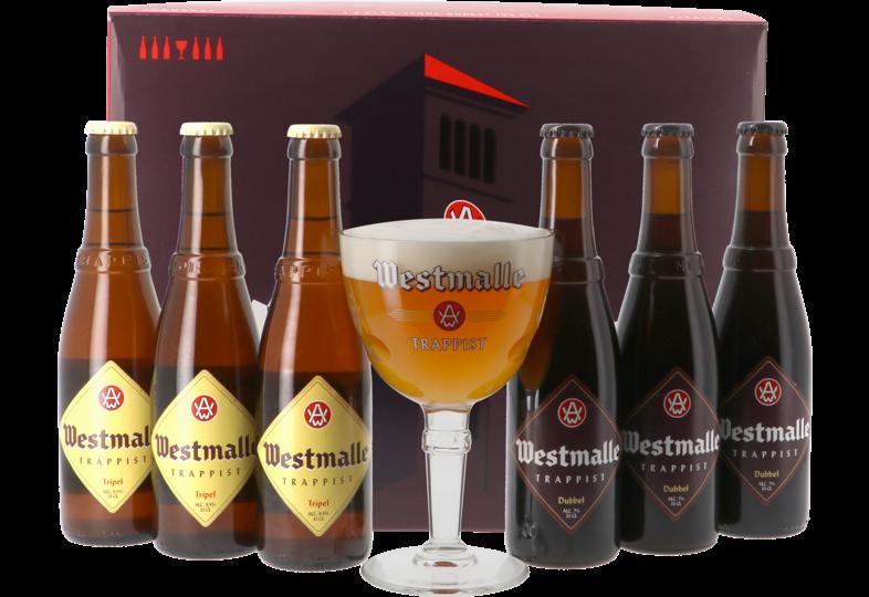 Accessori e regali - Cofanetto Westmalle Trappist - 6 birre + 1 bicchiere