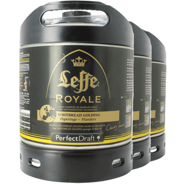 Pack 3 Tapvaatjes 6L Leffe Royale - Perfect Draft