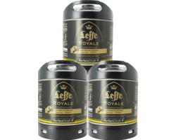 Fûts de bière - Pack 3 fûts 6L Leffe Royale