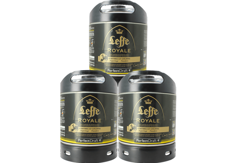 Kegs - Leffe Royale Whitbread Golding PerfectDraft Keg - 3-pack