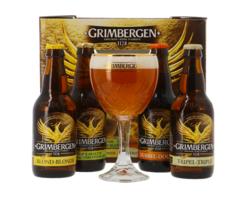 Accessoires et cadeaux - Coffret Grimbergen Discovery - 4 bières + 1 verre