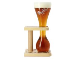 Bierglazen - Kwak glas met houten voet