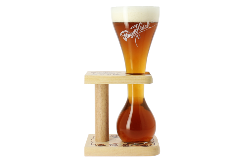Beer glasses - Kwak glass with wooden base