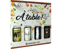 Accessori e regali - Cofanetto à table, 4 birre