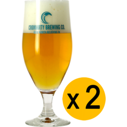 Beer glasses - 2 Glasses Cromarty - 33 cl