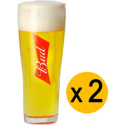 Verres à bière - Pack 2 Verres Bud - 25 cl