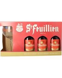 Coffrets cadeaux verre et bière - Coffret St Feuillien de Noël  (3 bières 1 verre)